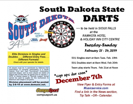 2019 State Darts