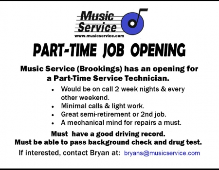 Help Wanted in Brookings Part-Time