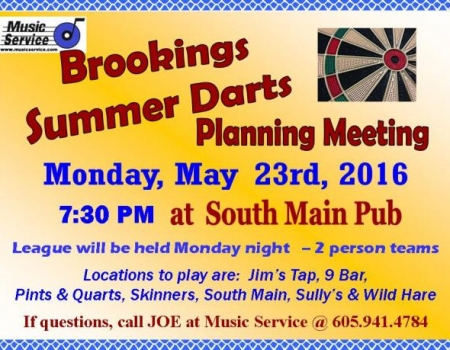 Brookings Summer Darts