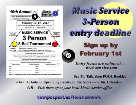 2017 Music Service 3-Person Tournament