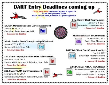 2016-17 DART DEADLINES