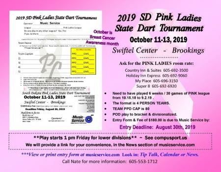 2019 SD State Pink Ladies Dart Tourney