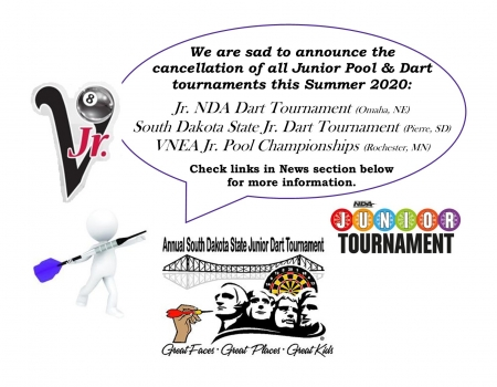 JR Pool and Dart Tourney Cancellations 2020
