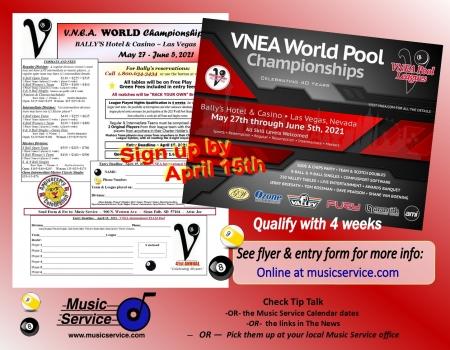 2021 VNEA World Pool