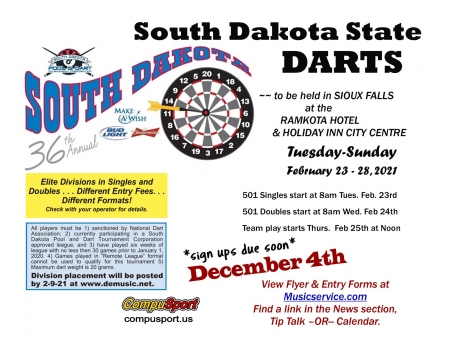 2021 SD State Darts