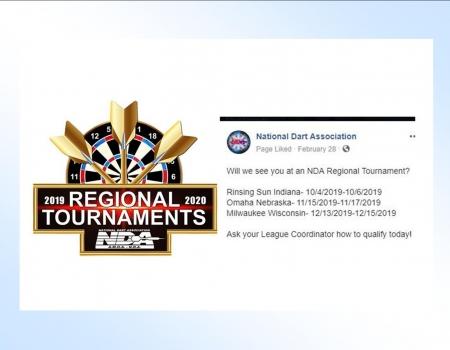 2019 NDA Regional Dart Dates