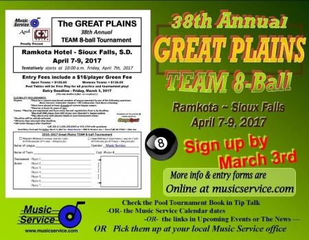 2017 Great Plains Team 8-Ball