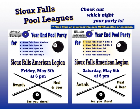 Sioux Falls End of Year POOL Parties 2017