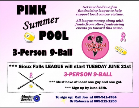 2016 Sioux Falls Pink Summer Pool