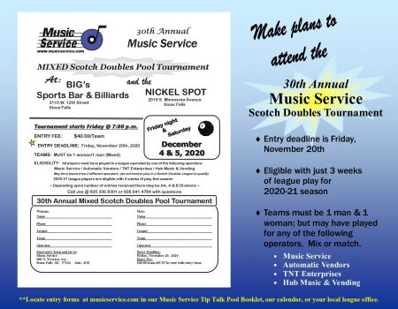 30th Annual Music Service Mixed Scotch Doubles